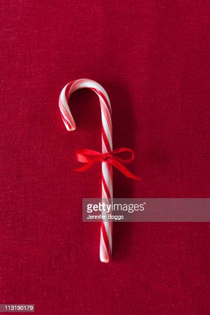 Candy cane with red bow