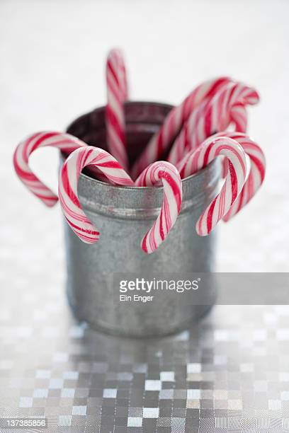 Candy canes in box