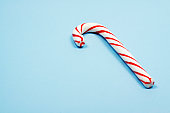 Candy Canes on Blue