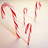 Candy canes, (Close-up)