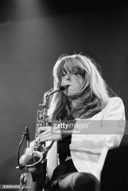 Candy Dulfer alto saxophone performs at the North Sea Jazz Festival in the Hague Netherlands on 15th July 1995