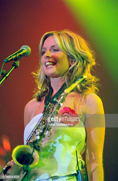 Candy Dulfer alto saxophone performs at the North Sea Jazz Festival on July 12th 2002 in Amsterdam Netherlands