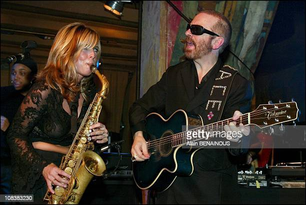 Candy Dulfer Dave Stewart in Paris France on November 12 2002