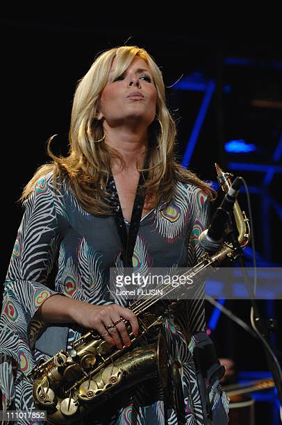Candy Dulfer performs at the Montreux Jazz Festival in Montreux Switzerland on July 18th 2007