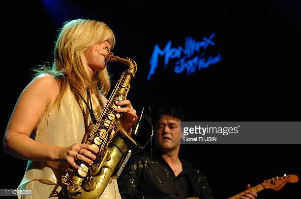 Candy Dulfer performs at the Montreux Jazz Festival in Montreux Switzerland on July 21th 2007