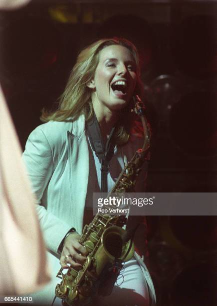 Candy Dulfer performs on stage Jaarbeurs Utrecht Netherlands 23rd December 1998 She was supporting Prince