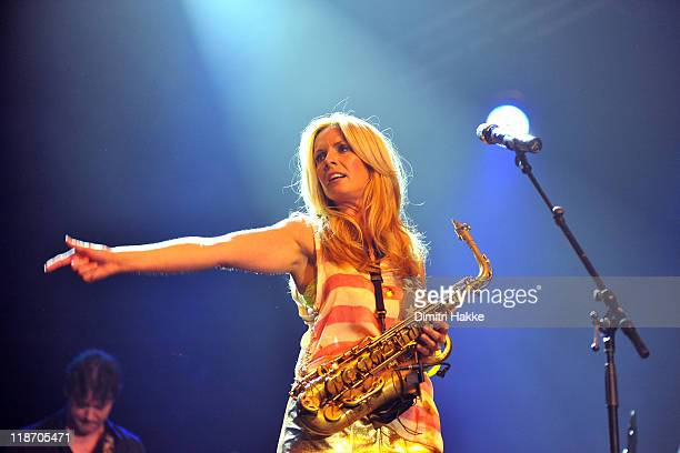 Candy Dulfer performs on stage North Sea jazz Festival 2011at Ahoy on July 9 2011 in Rotterdam Netherlands