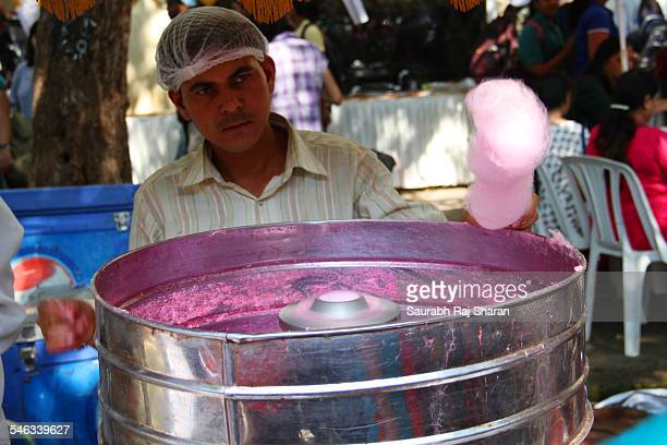 Candy floss maker shot at fort Mumbai