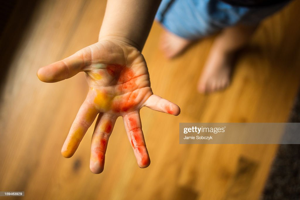 Candy Hands : Stock Photo