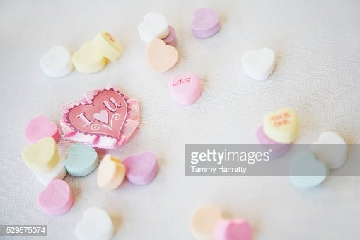 Candy Hearts : Foto de stock