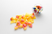 candy jar over white backgroind