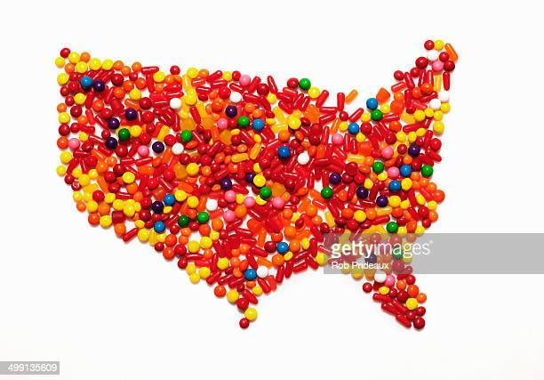 Candy map of the United States of America