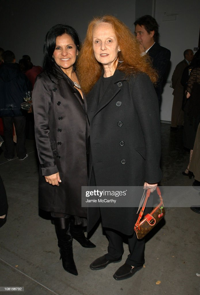 Candy Pratts Price and Grace Coddington during W Magazine Trunk Show at 545 West 22nd Street in New York City, New York, United States.