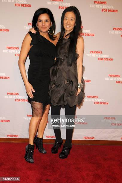 Candy Pratts Price and Vera Wang attend PARSONS 2010 Fashion Benefit Honoring WILLIAM FUNG and VERA WANG at Pier 60 on April 26 2010 in New York City