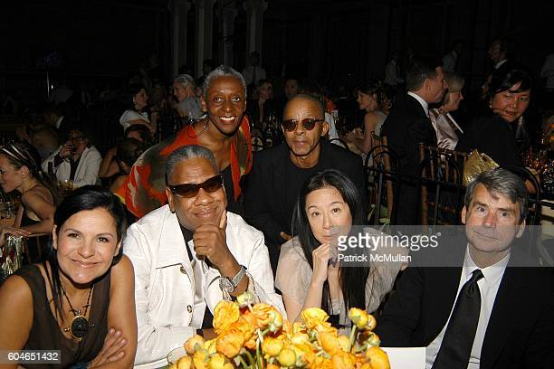 Candy Pratts Price Andre Leon Talley Bethann Hardison Stephen Burrows Vera Wang and Patrick McCarthy attend The 2006 CFDA Fashion Awards at The New...