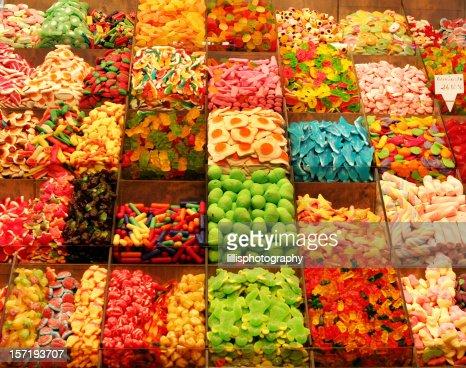 Candy Shop in Barcelona Spain