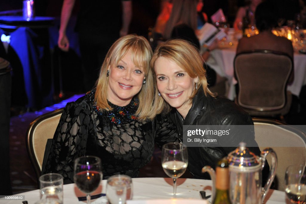 Candy Spelling and Peggy Lipton have dinner at the 35th Annual Gracie Awards Gala - Show at The Beverly Hilton hotel on May 25, 2010 in Beverly Hills, California.
