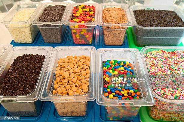 Candy Streusel und Schokolade Belägen