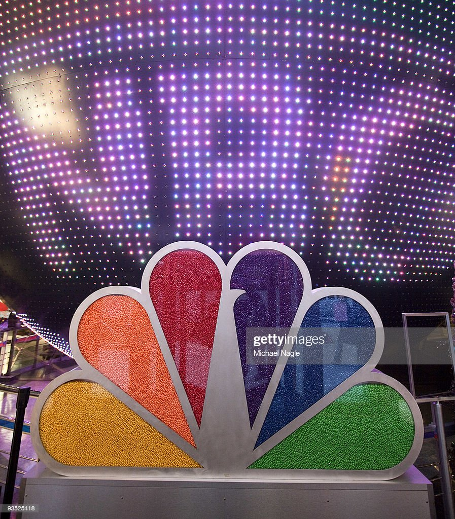 A candy-filled NBC peacock logo is seen inside the NBC Experience Store at Rockefeller Center on December 1, 2009 in New York City. General Electric is poised to buy Vivendi's NBC Universal stake.