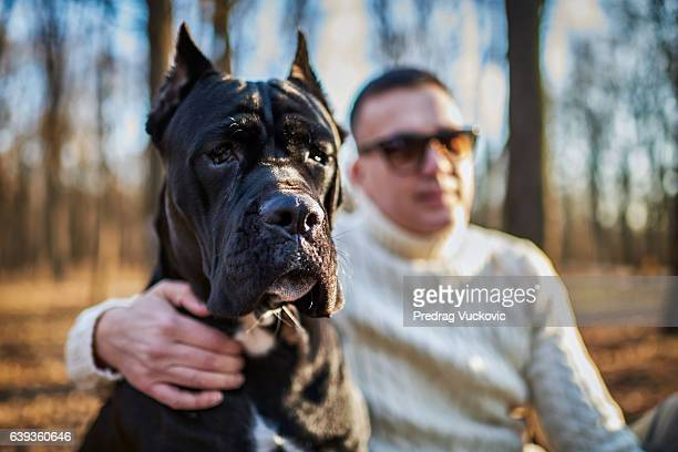 Cane Corso and his owner