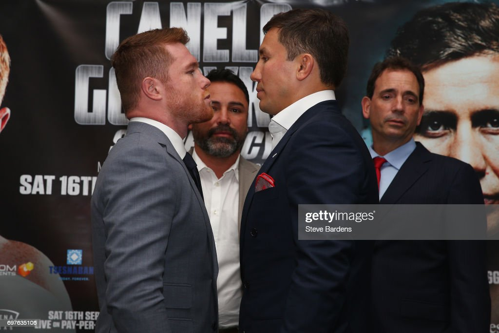 Boxing Press Conference with Canelo Alvarez and Gennady Golovkin