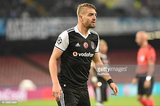 Caner Erkin of Besiktas during the UEFA Champions League match between SSC Napoli and Besiktas at Stadio San Paolo Naples Italy on 19 October 2016
