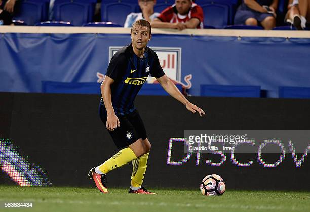 Caner Erkin of FC Internazionale in action during the friendly match between FC Internazionale and Estuduantes at Red Bull Arena on July 27 2016 in...