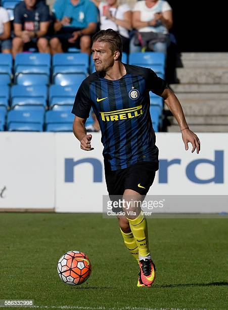 Caner Erkin of FC Internazionale in action during the friendly match between Tottenham FC Hotspur and Fc Internazionale played at Ullevaal Stadium on...
