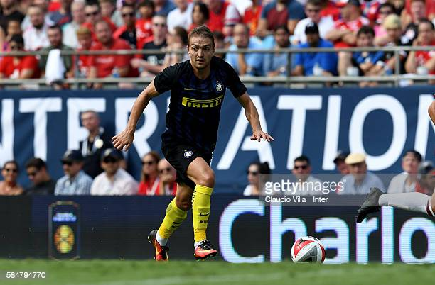 Caner Erkin of FC Internazionale in action during the International Champions Cup 2016 match between FC Internazionale and Bayern Munich at Bank of...