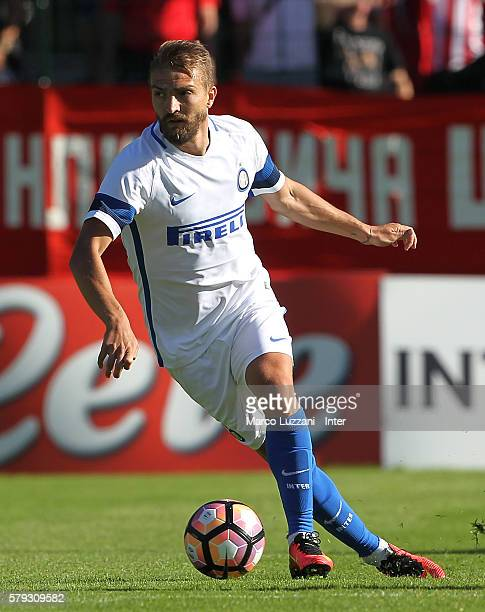 Caner Erkin of FC Internazionale Milano in action during the preseason friendly match between FC Internazionale and CSKA Sofia on July 14 2016 in...