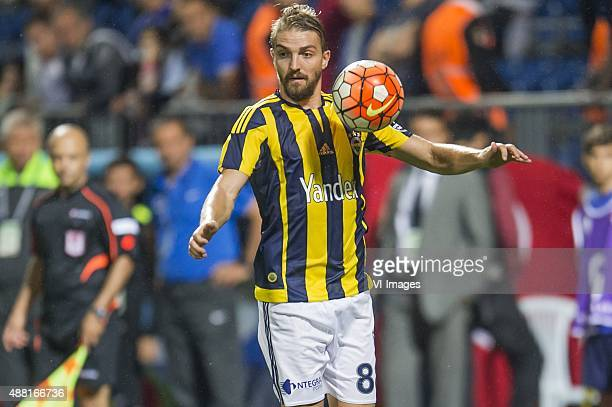 Caner Erkin of Fenerbahce during the Super Lig match between Kasimpasa SK and Fenerbahce on September 13 2015 at the Recep Tayyip Erdogan stadium in...