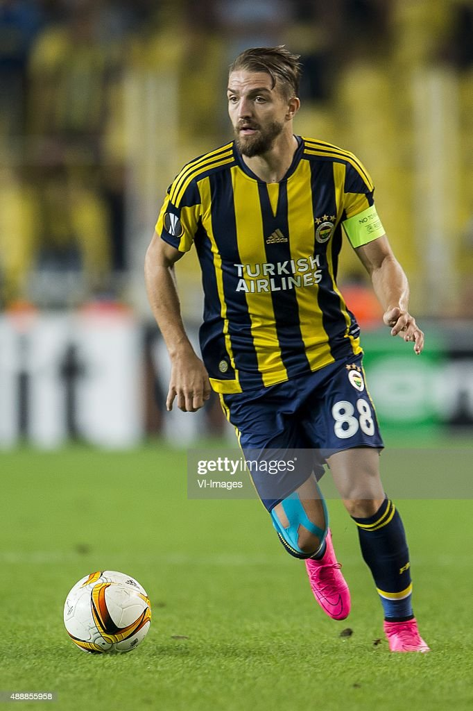 <a gi-track='captionPersonalityLinkClicked' href=/galleries/search?phrase=Caner+Erkin&family=editorial&specificpeople=5127933 ng-click='$event.stopPropagation()'>Caner Erkin</a> of Fenerbahce during the UEFA Europa League match between Fenerbahce SK v Molde FK on September 17, 2015 at the Sukru Saracoglu stadium in Istanbul, Turkey.