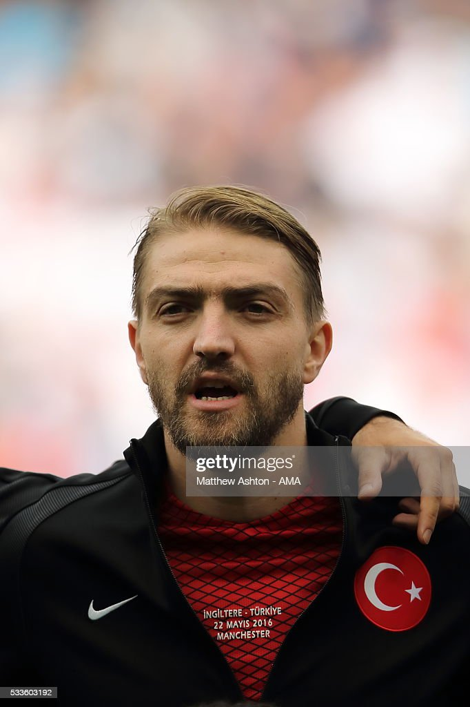 <a gi-track='captionPersonalityLinkClicked' href=/galleries/search?phrase=Caner+Erkin&family=editorial&specificpeople=5127933 ng-click='$event.stopPropagation()'>Caner Erkin</a> of Turkey during the International Friendly match between England and Turkey at Etihad Stadium on May 22, 2016 in Manchester, England.