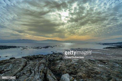 Cangas Sunset : Stock Photo