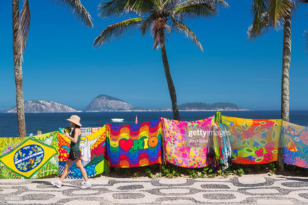 cangas the brazilian sarong and beach towel for sale in ipanema stock photo - Beach Towels On Sale