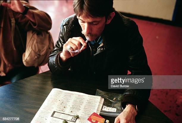 a man smokes marijuana Photo by David Butow/Corbis SABA