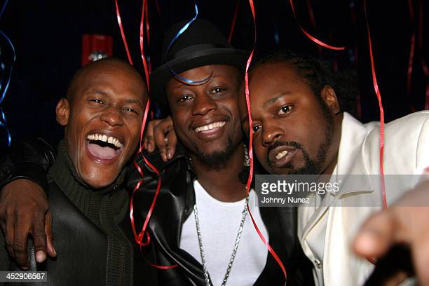Canibus Jerry Wonder and Farel Sedeck Jean during Wyclef Jean Birthday Party at Quo in New York City New York United States