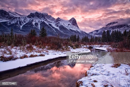 Canmore December sunset
