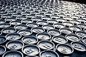 Rows upon rows of aluminum cans
