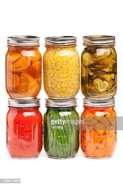 Cibo in scatola, Barattolo di vetro, contenitori di conservato, verdure sottaceto Canning