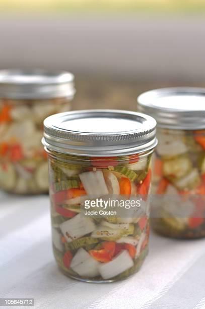 Canned Pickled Vegetables