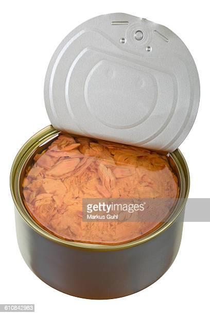 Canned tuna open