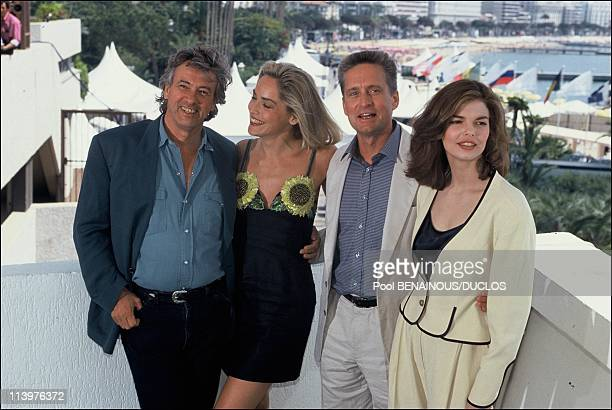 Cannes 92 Film 'BASIC INSTINCT' in Cannes France on May 21 2002Paul Verhoeven Sharon Stone Michael Douglas Jeanne Tripplehorn