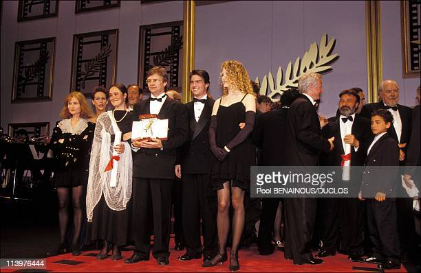 Cannes 92The winners in Cannes France on May 18 1992I Huppert Pernilla Bille August TCruise NKidman