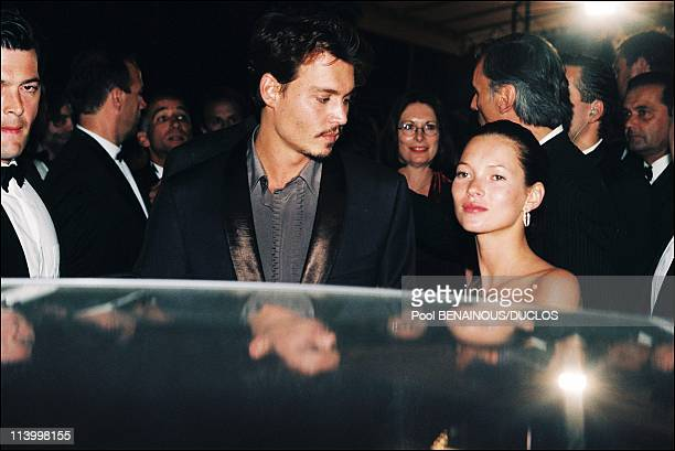 Cannes 98 The Strairs of 'Fear And Loathing In Las Vegas' In Cannes France On May 15 1998Johnny Depp and Kate Moss