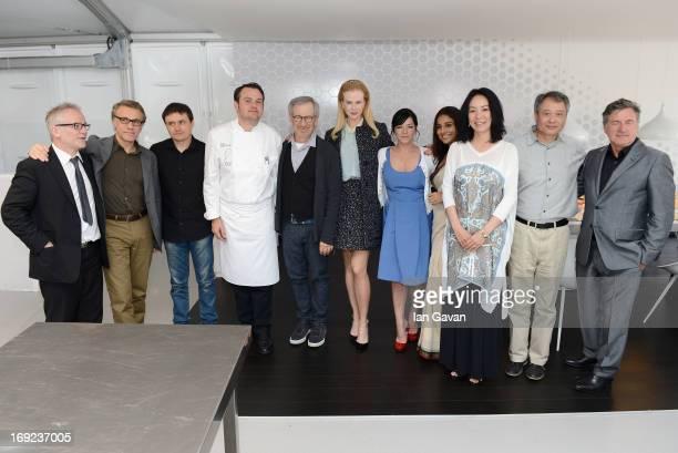 Cannes festival director Thierry Fremaux Christoph Waltz Cristian Mungiu Steven Spielberg Nicole Kidman Lynne Ramsay Vidya Balan Naomi Kawase Ang Lee...
