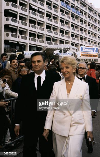 Cannes Festival Roger Hanin And His Wife