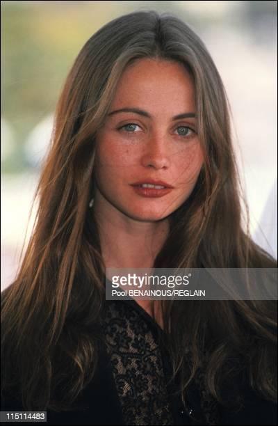 Cannes Film Fesrtival of 'La Belle Noiseuse' by Jacques Rivette in Cannes France on May 14 1991 Emmanuelle Beart