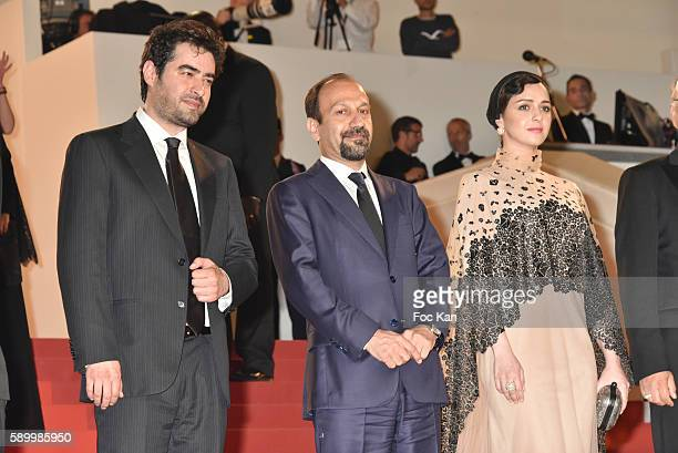 Cannes Film Festival 2016 Best actor awarded Shahab Hosseini director Asghar Farhadi and actress Taraneh Alidoosti attend 'The Salesman ' Premiere...