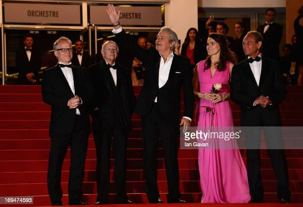 Cannes Film Festival artistic director Thierry Fremaux Chairman of the Cannes Film Festival Gilles Jacob Bertrand Delanoe Aurelie Filippetti and...